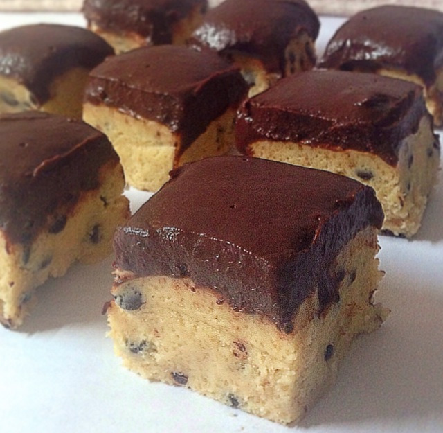 chocolate chip cookie dough squares.