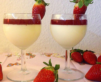 strawberry panna cotta parfaits.