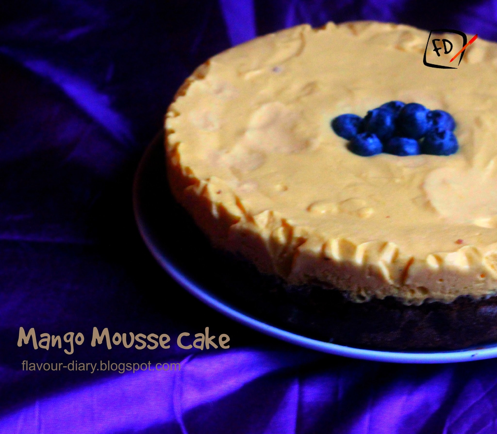 Mango Mousse Chocolate Cake
