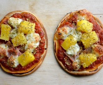 Mini pizza Hawaï