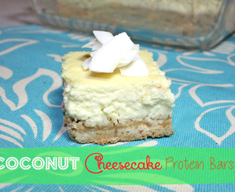 Coconut Cheesecake Protein Bars