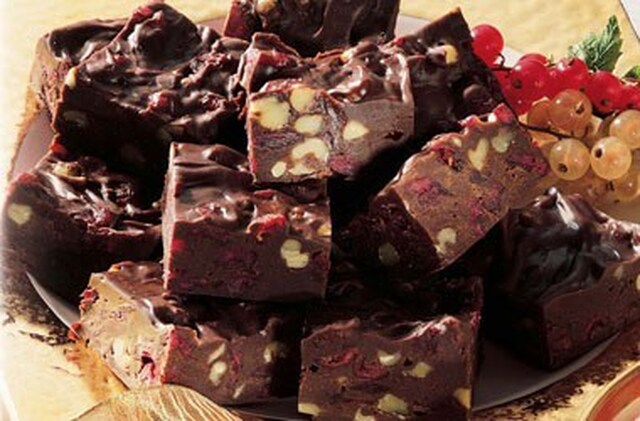 Fudge aux canneberges
