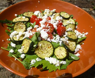 Za'atar Courgettes and Tomato's Feta Salad Recipe