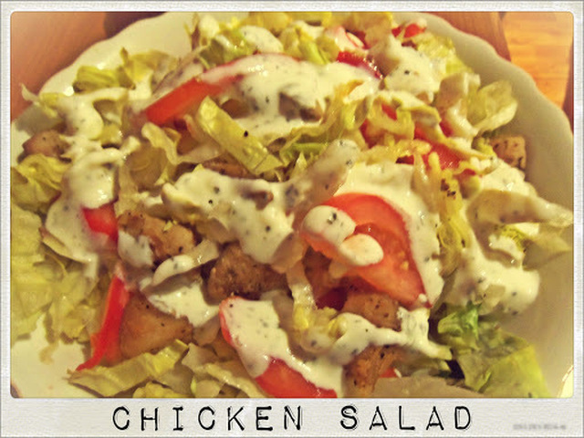 Chicken Salad  with Yogurt and Mint Dressing