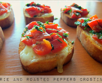 Brie and Roasted Peppers Crostini- Appetizers August (3)