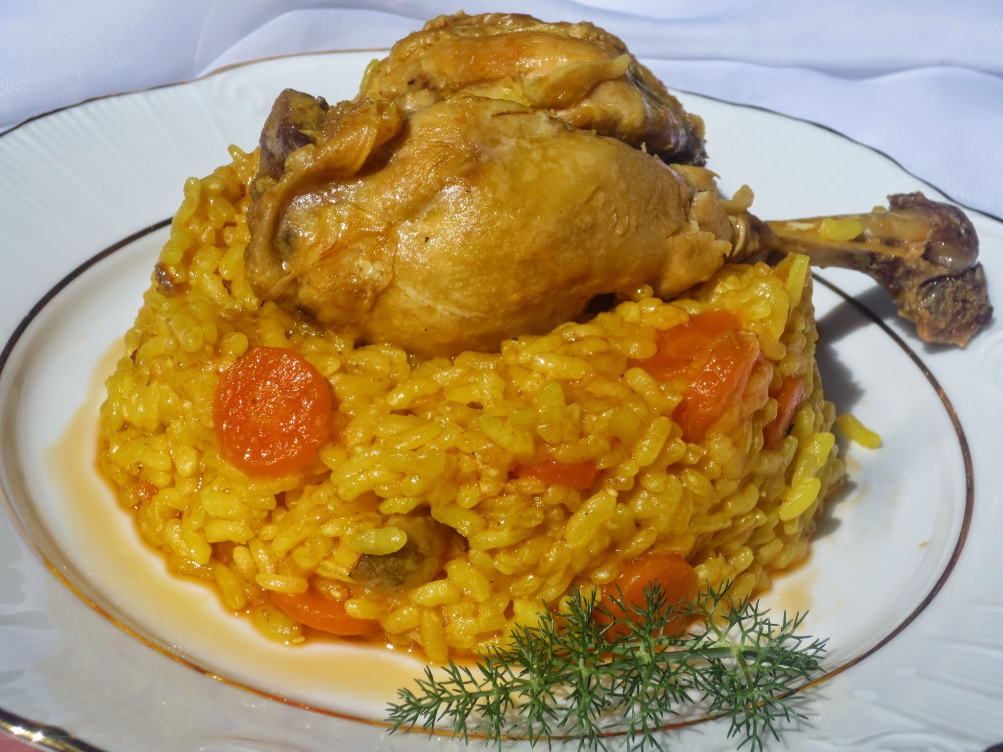 Arroz con pollo de corral olla GM
