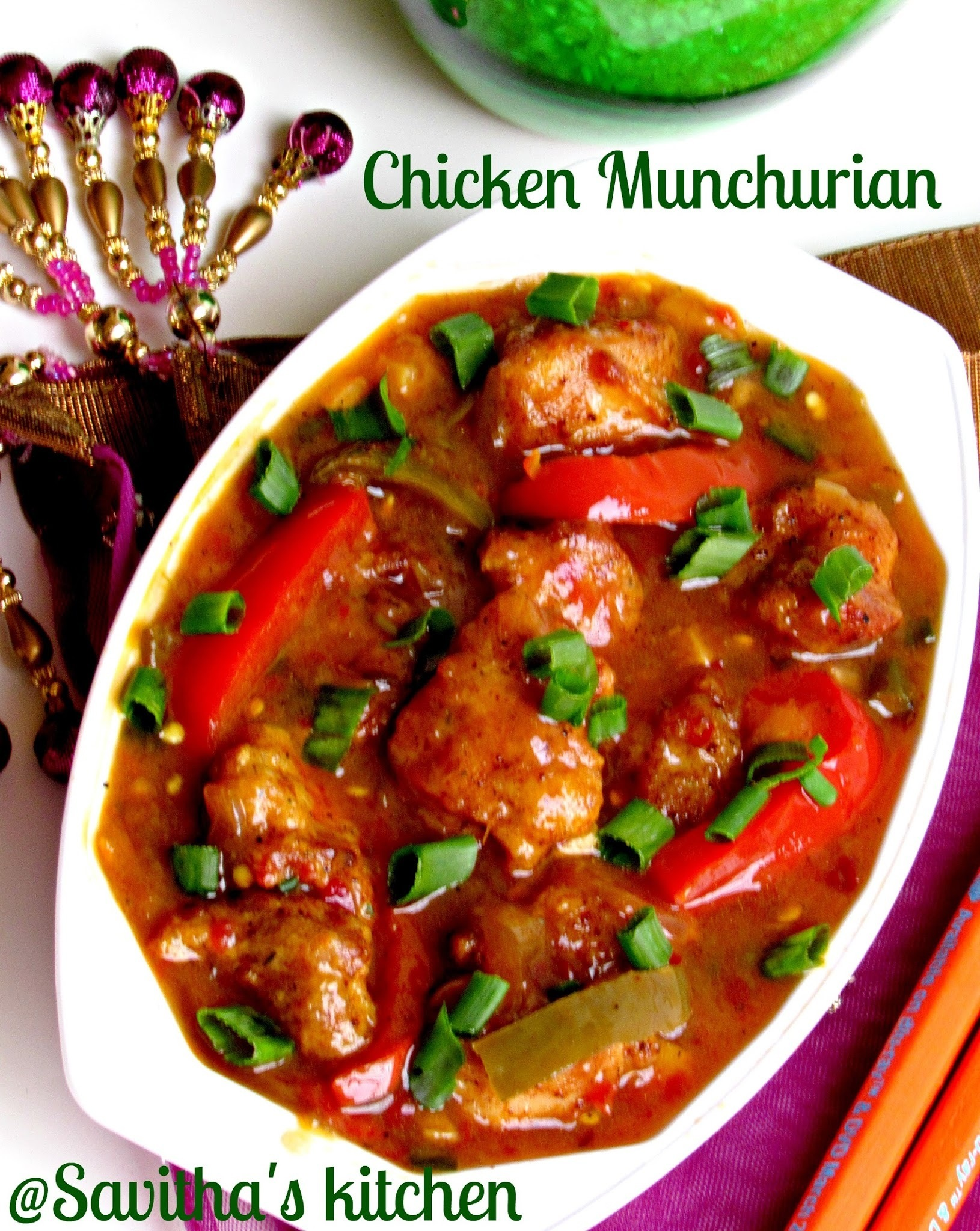 Chicken Munchurian - Restaurant style - Step by step
