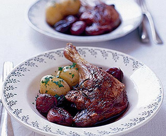 Roast duck legs with five spice