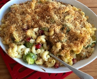 Brussels Sprout & Cranberry Pasta Bake