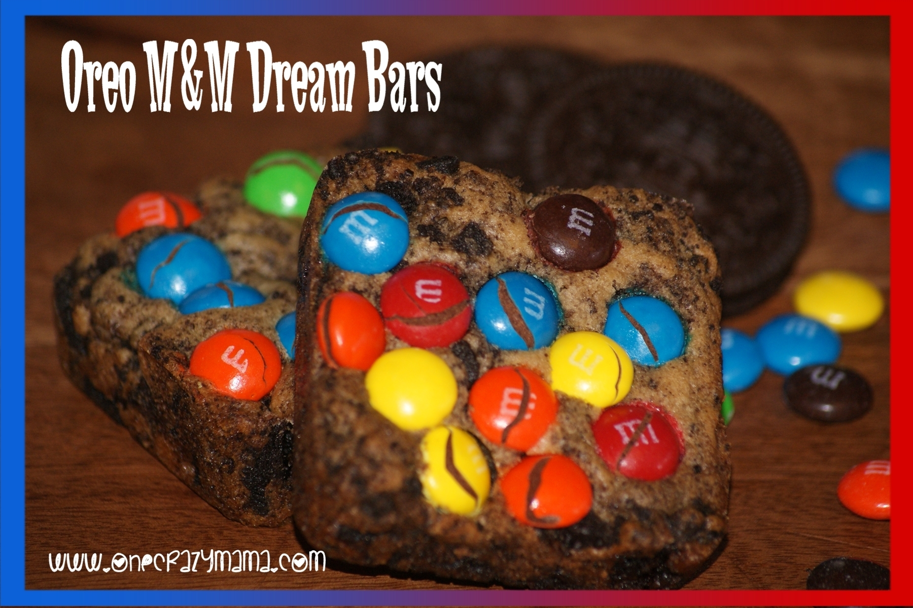 Oreo M&M Dream Bars