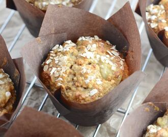 Banana & Walnut Breakfast Muffins