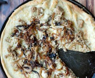 Caramelized Onion and Sausage Pizza