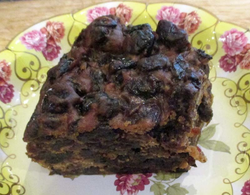Boiled Fruit Cake - makes lovely and easy Christmas Cake - no sugar added