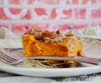 Sweet Potato Casserole with Orange Zest and Pecan Streusel