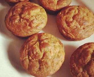 Eggless Carrot and Walnut Muffin