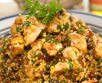 Chicken and raisin couscous recipe