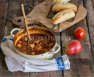 Chicken Chorizo and Chickpea Stew