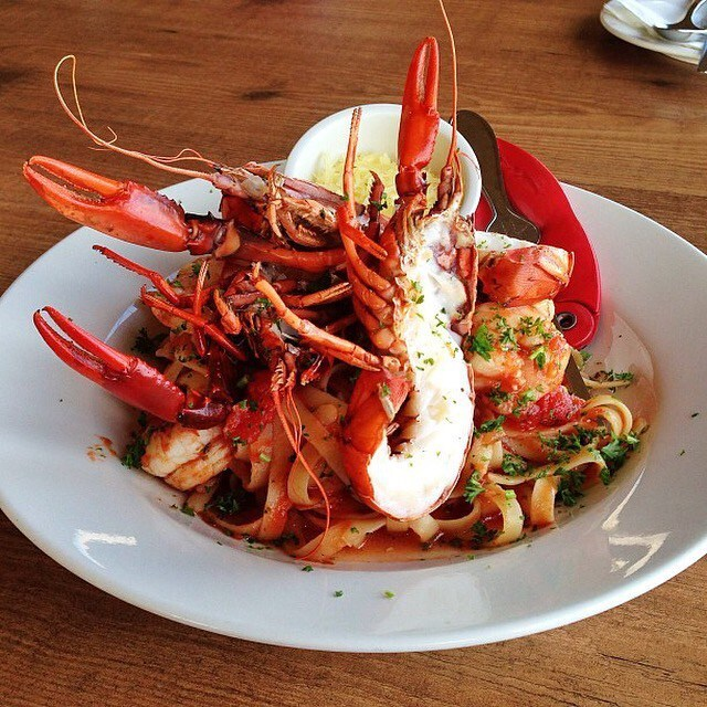 Eat More Fish: Grilled Marron With King Prawn Tagliatelle