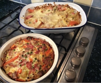 Pasta bake and frittata