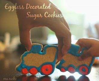 Eggless Decorated Sugar Cookies & Weekly Menu Plan