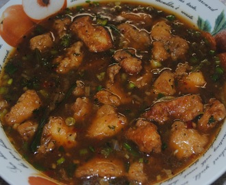 Indian style chicken manchurian