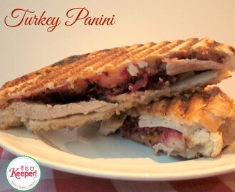 Leftover Turkey Recipes:  Thanksgiving Panini