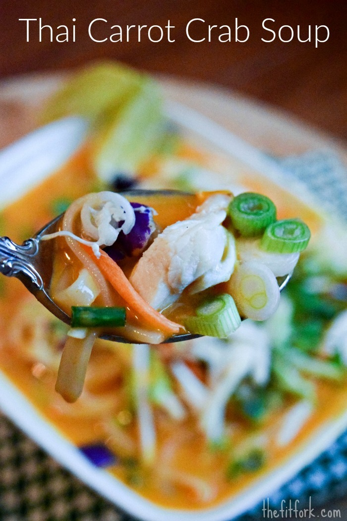 Thai Carrot Crab Noodle Soup + #KeepingFitFun
