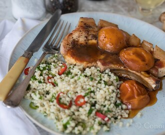 Bone-In Pork Chops With Preserved Apricot Sauce