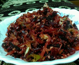 Cabbage Beetroot Thoran/cabbage Beetroot Coconut Stir Fry