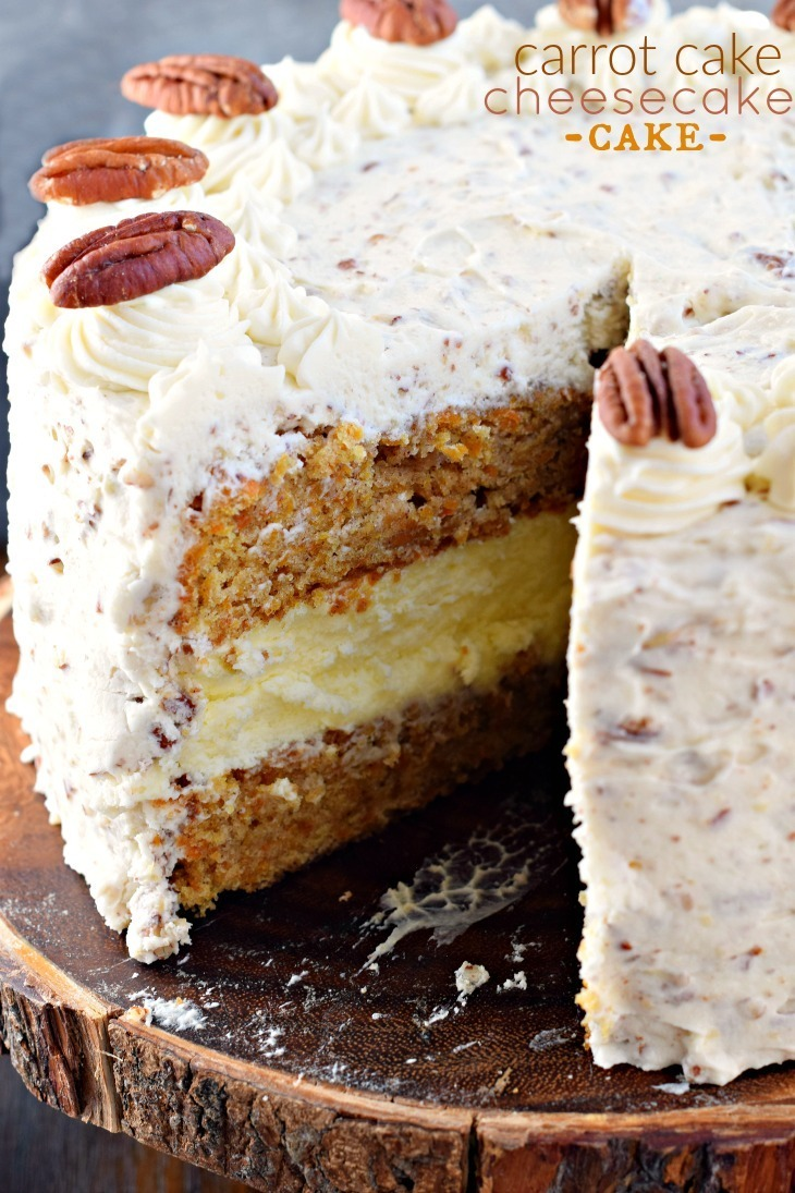 Carrot Cake Cheesecake Cake - Shugary Sweets