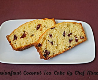 Passionfruit Coconut Tea Cake
