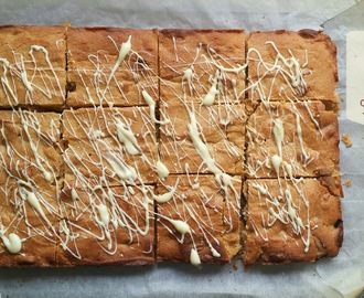 Recipe - Peanut butter & white chocolate blondies