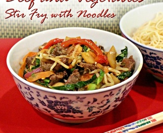 Beef and Vegetables Stir Fry with Noodles – Tefal ActiFryDays Challenge