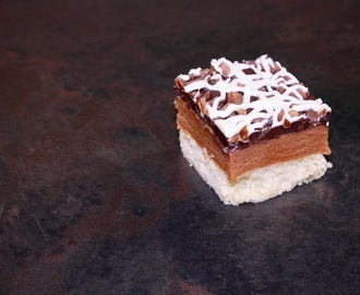 Billionaire's Shortbread with salted caramel