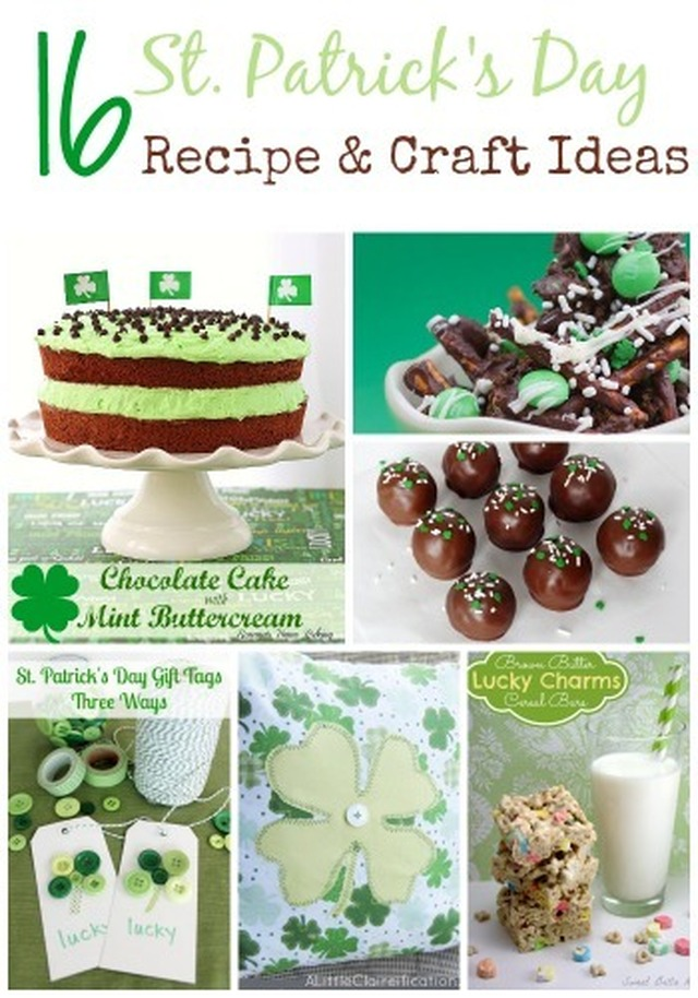 16 St. Patrick Day Recipe and Craft Ideas