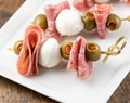 Mozzarella Salami Olive Appetizer Sticks