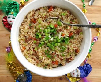 Cajun Dirty Rice Bowls for #SundaySupper