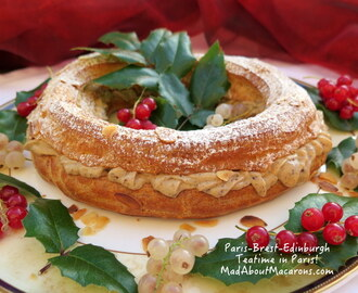 How to Make a Giant Paris-Brest Choux (Eclair) Pastry Ring for Christmas