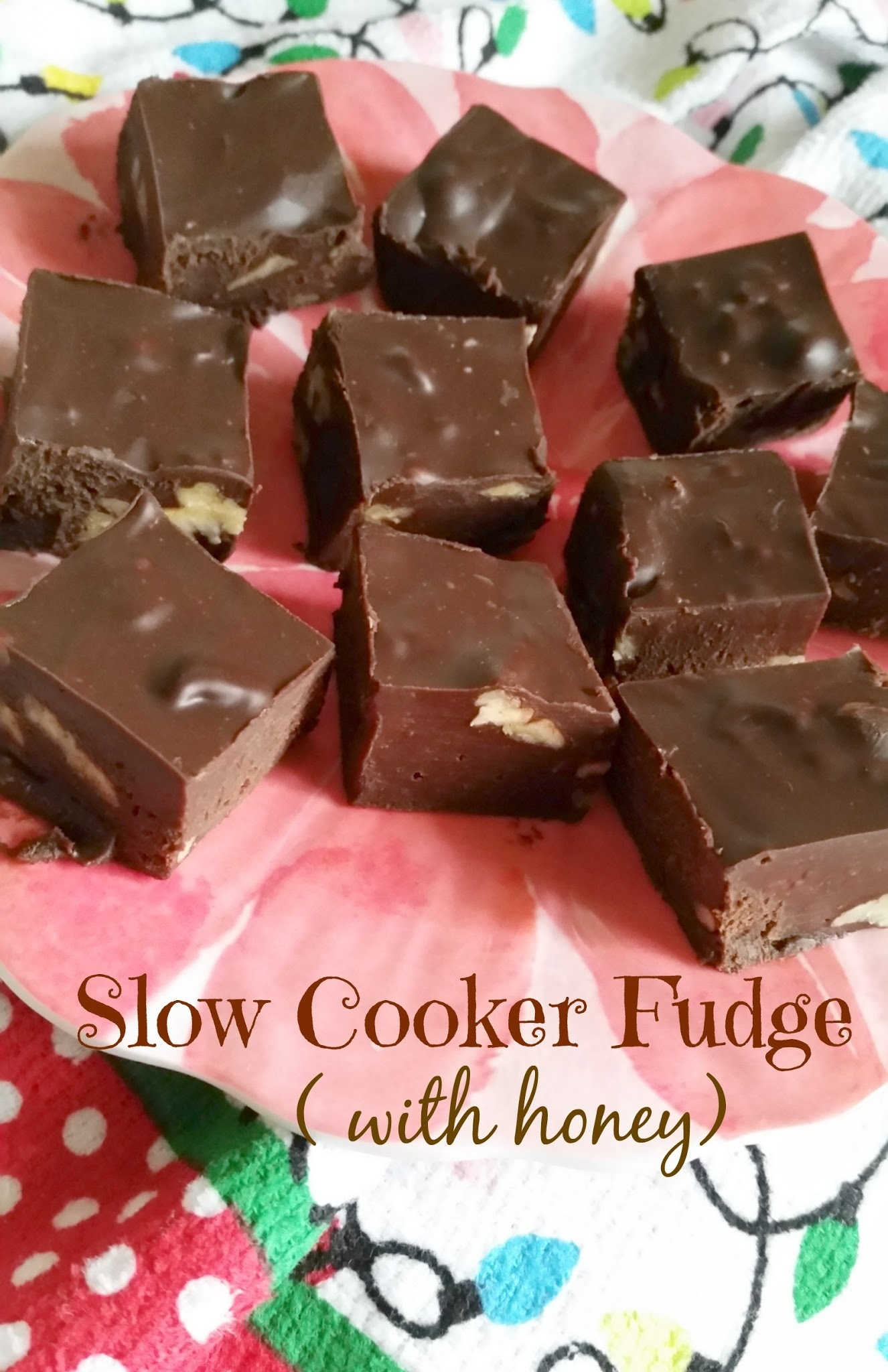 Slow Cooker Fudge (made with honey)