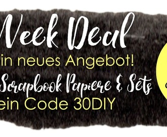Black Week Deal -30% auf Scrapbookpapier & Kits in 12x12