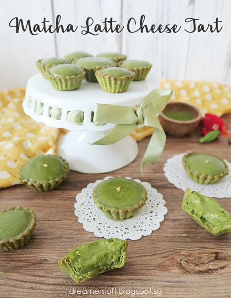 Bake Matcha Latte Cheese Tart