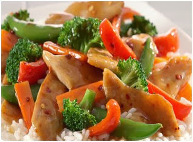 Chicken and Vegetable Stir Fry (Soy free, Glutten Free, Egg Free