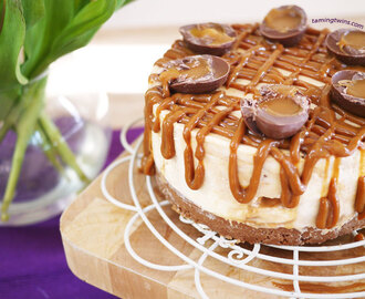 Caramel Egg Cheesecake