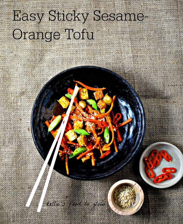Easy Sticky Sesame-Orange Tofu Recipe (vegan/gf)