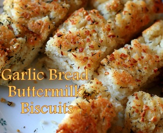 Garlic Bread Buttermilk Upside-Down Biscuits