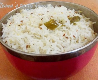 Jeera rice - with stepwise picture