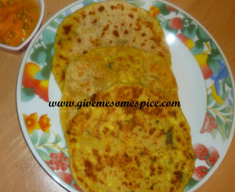 Orange Flavoured Paneer Stuffed in Parathas