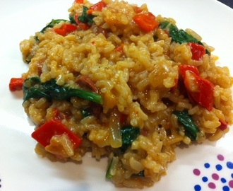 Chorizo & red pepper risotto recipe