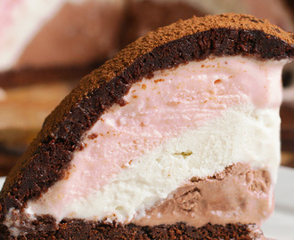 This Neapolitan Ice Cream Brownie Bombe Is Gonna Blow Your Mind