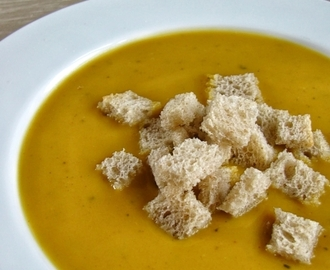 Sweet potato and coconut soup...